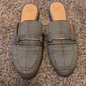 a new day Plaid Mules